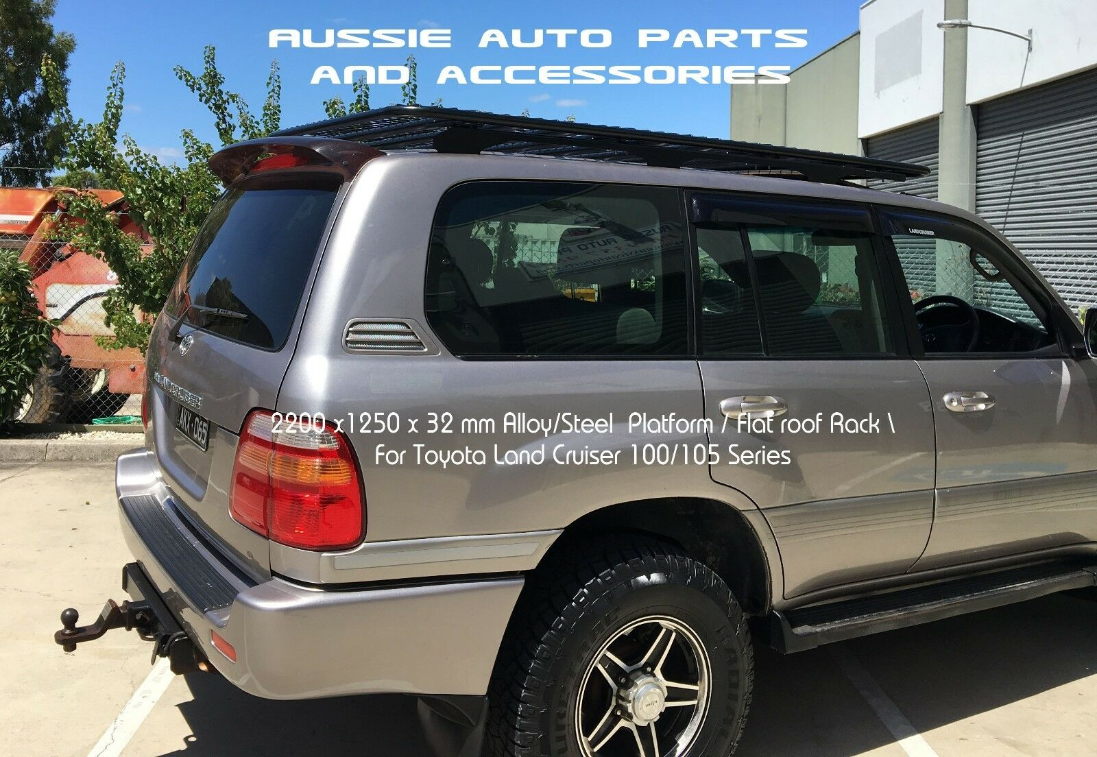 Alloy Flat Roof Rack 2200mm For TOYOTA Land Cruiser 100 Series Alloy Roof  Rack