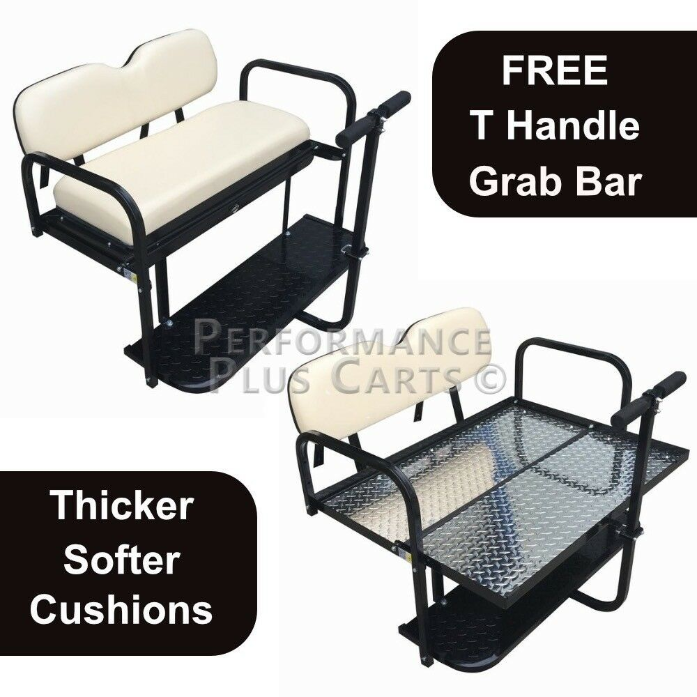 CLUB CAR PRECEDENT Golf Cart Flip Folding Rear Back Seat Kit - Buff Golf Cart Back Cushion on golf cart body, golf cart skirt, golf cart axle shaft, golf cart width, golf cart cushion covers, golf bag back cushion, golf cart seat, golf cart frame,