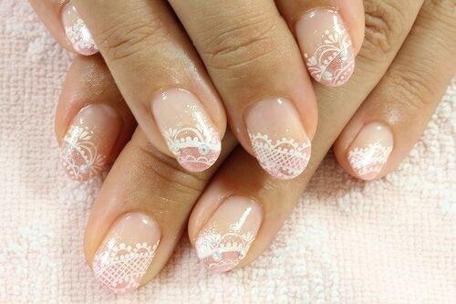 Nail Art Lace Stickers Decals Transfers White Lace Design Nail Art 2