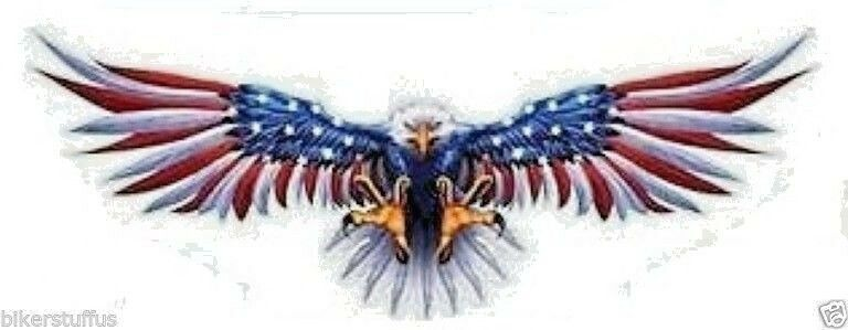 Flying eagle with us flag on wings helmet sticker bumper sticker 1 of 1free shipping altavistaventures Gallery