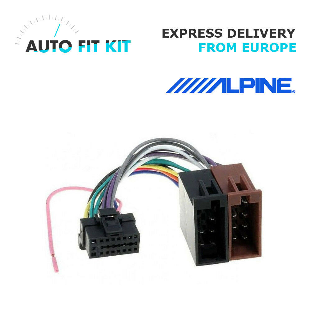 Alpine Wiring Harness Adapter Solutions Iso 16 Pin Loom Adaptor Wire Radio Connector