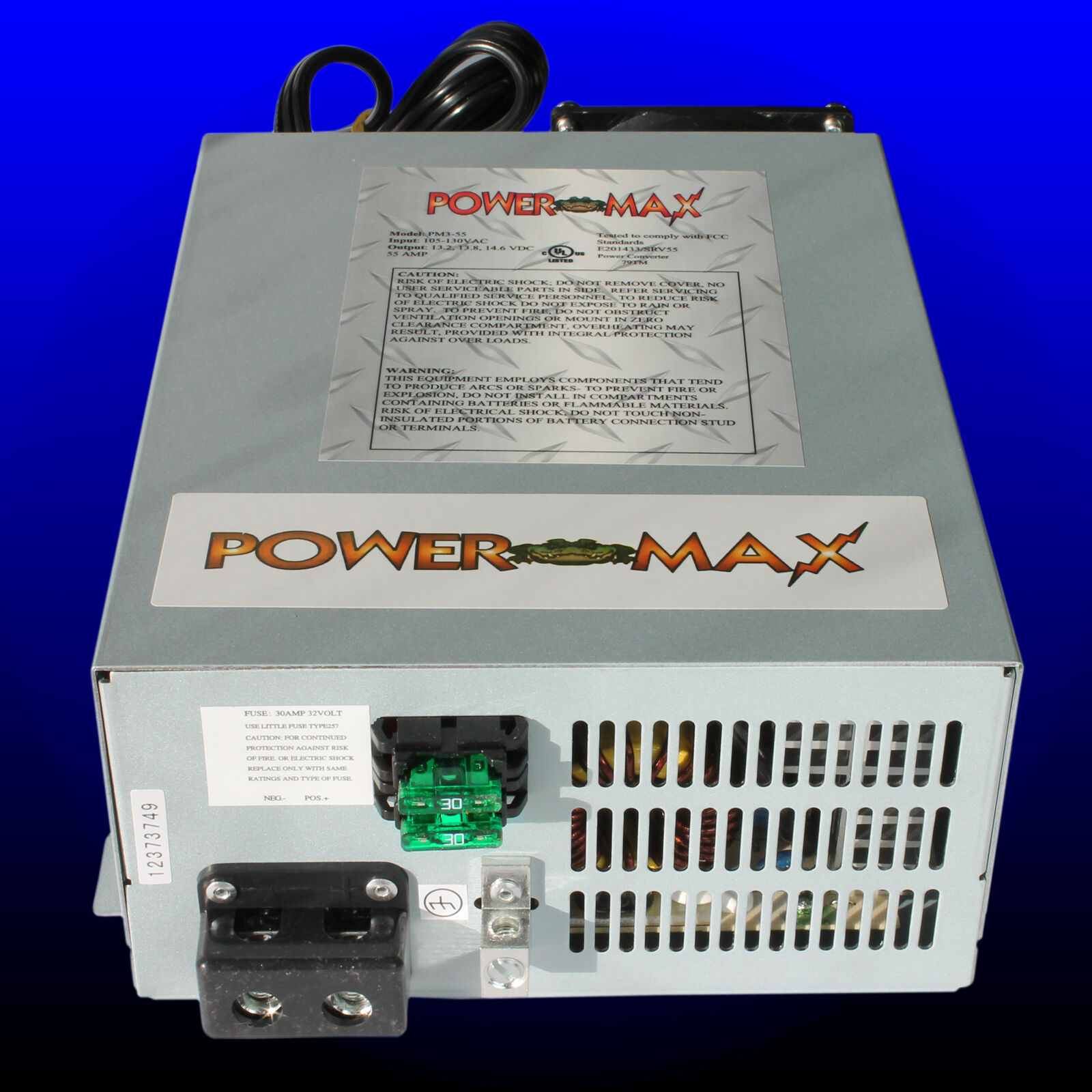 Powermax Rv Converter Battery Charger Pm3 55 Amp 120 V Ac To 12 Volt Wiring Dc 1 Of 4free Shipping See More