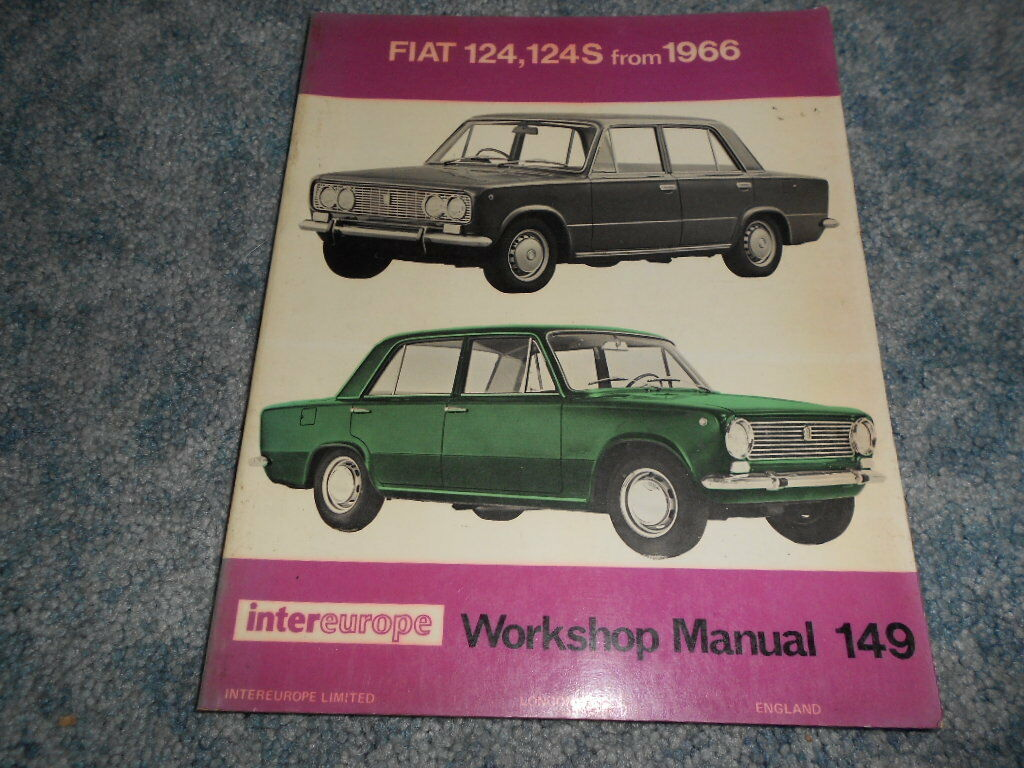 Fiat 124 124S Intereurope Workshop Repair Shop Service Manual : Used 1 of  1Only 1 available See More
