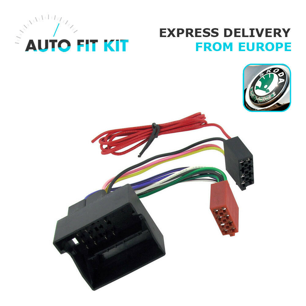 skoda wiring lead harness adapter iso car radio stereo replacement adaptor 8 99 picclick