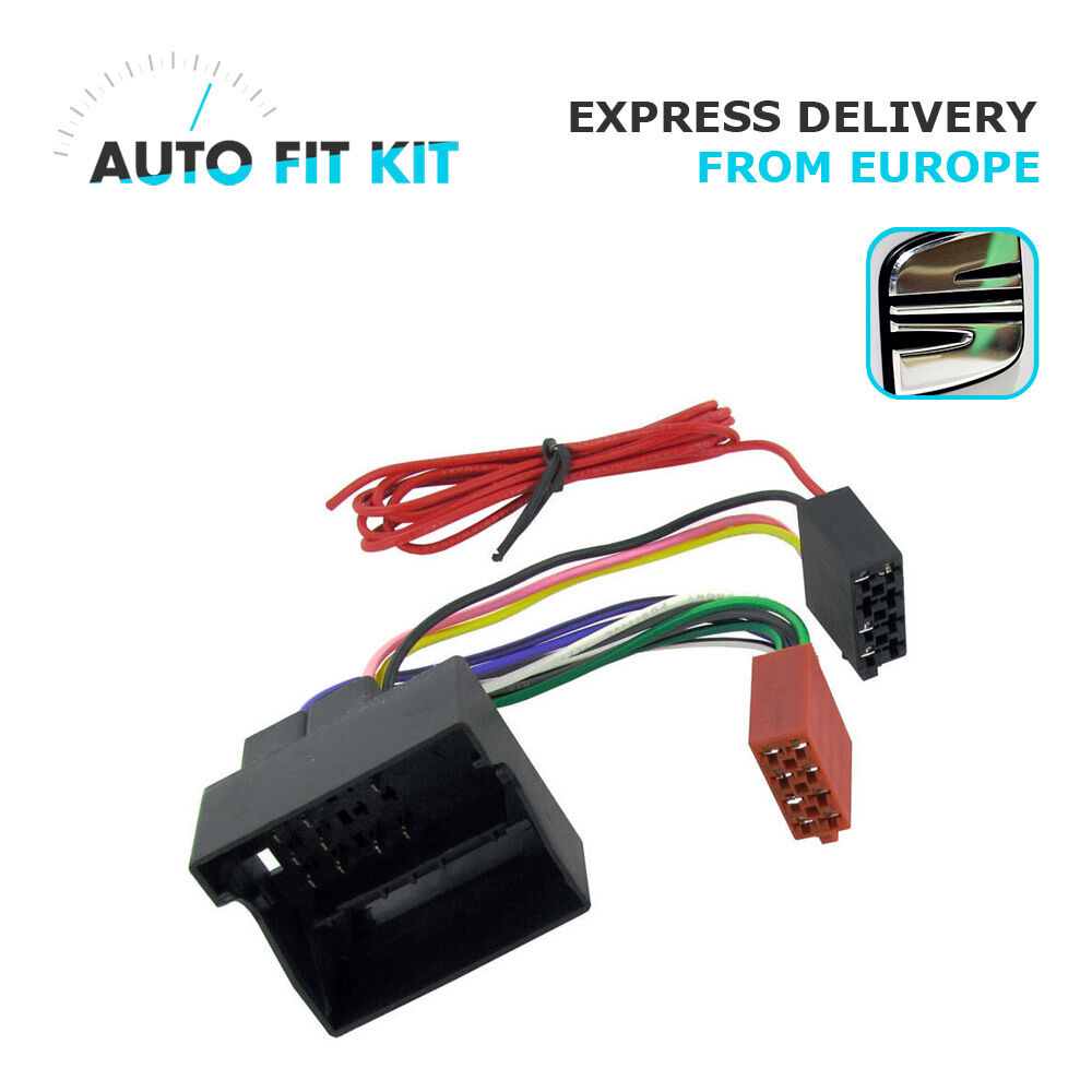seat wiring lead harness adapter iso car radio stereo replacement adaptor 8 99 picclick