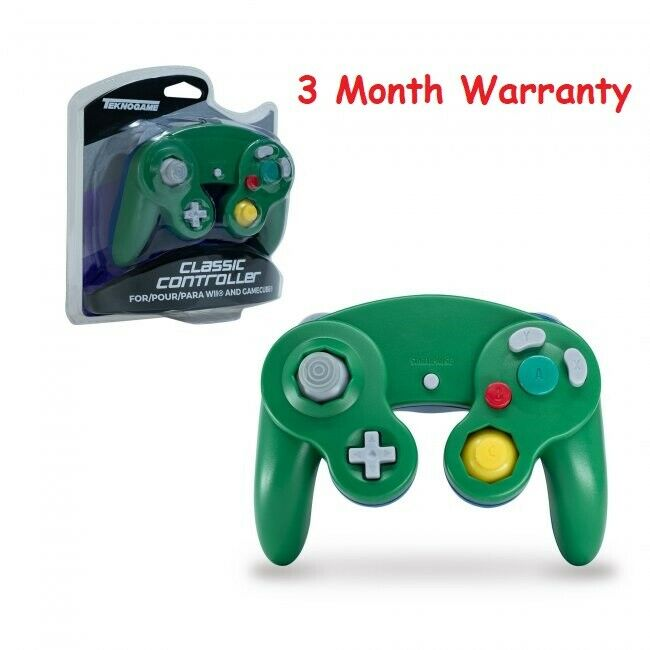 Brand New Controller for Nintendo GameCube or Wii -- Green / Blue