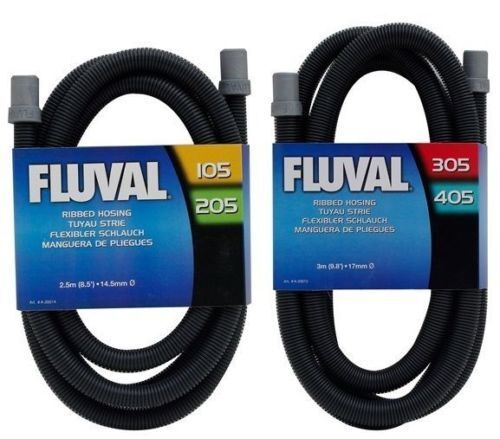 Fluval Ribbed Hose Hosing Fish Tank Pipe For Filter With Rubber Connector