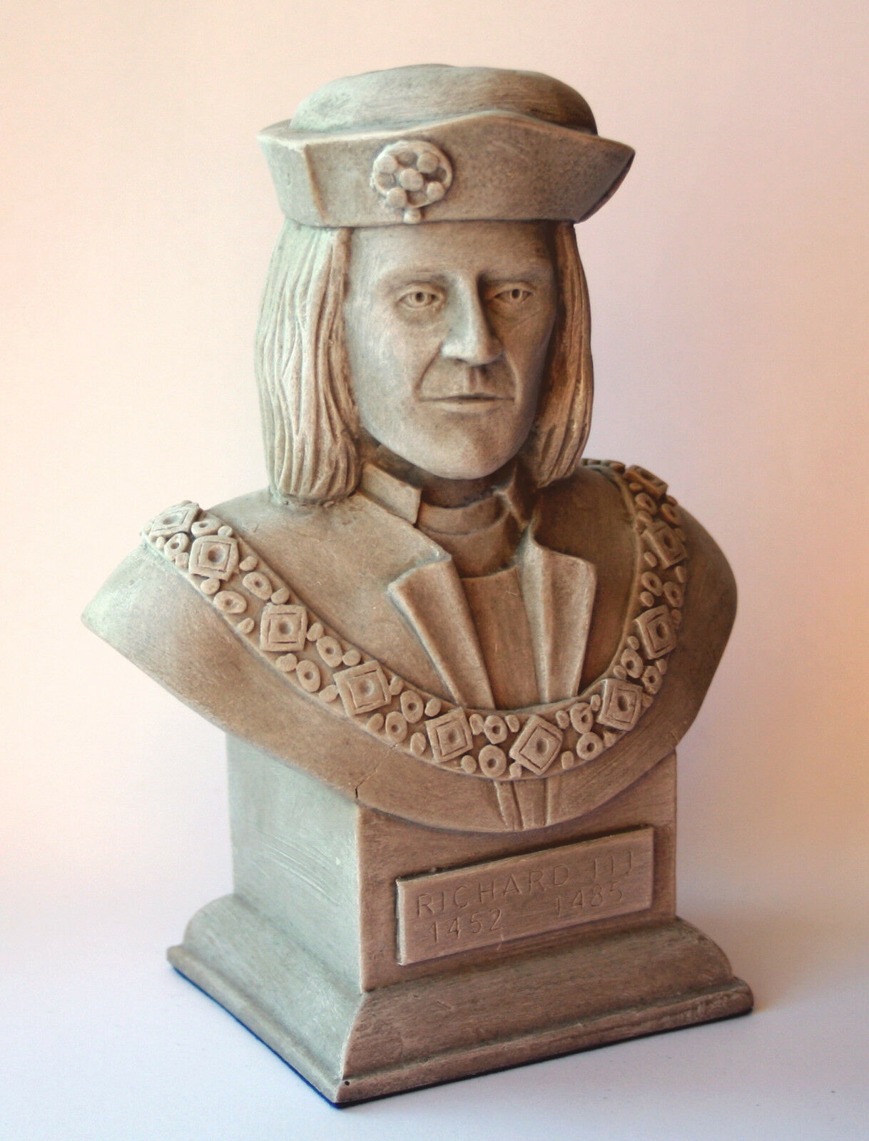 King Richard III Sculpture Bust Ornament Collectable Medieval Ricardian Gift UK
