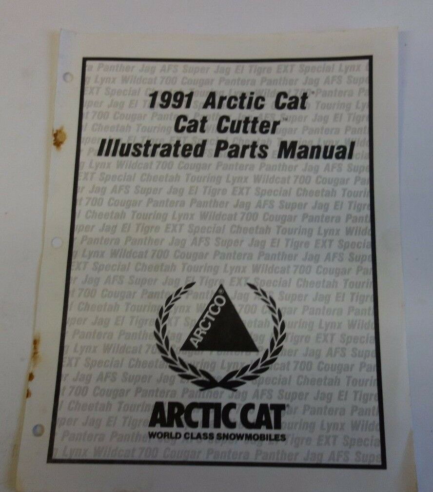 1991 Arctic Cat Cat Cutter Parts Manual Oem 1 of 1Only 1 available ...