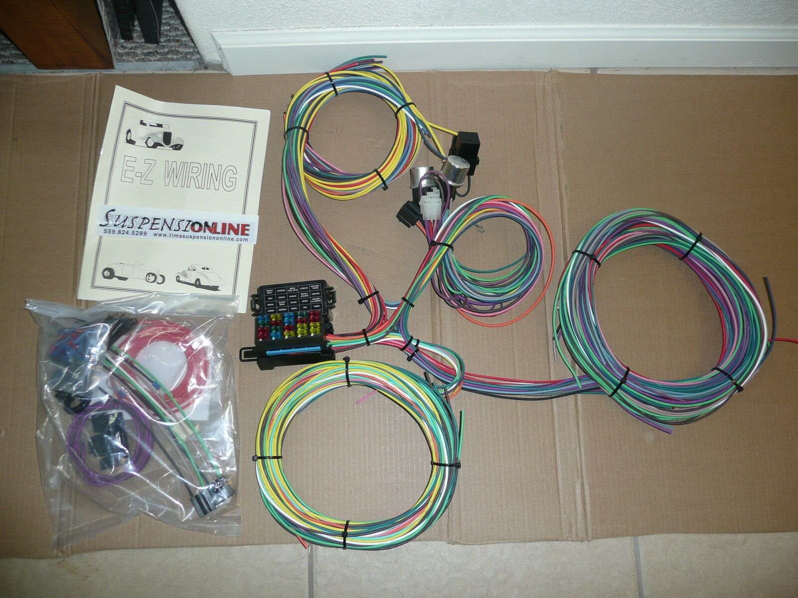 20 Ez Wiring Harness Electrical Diagrams Jeep Cj7 Mini Fuses Universal Street Hot Rod Chevy Ford 93 Mustang