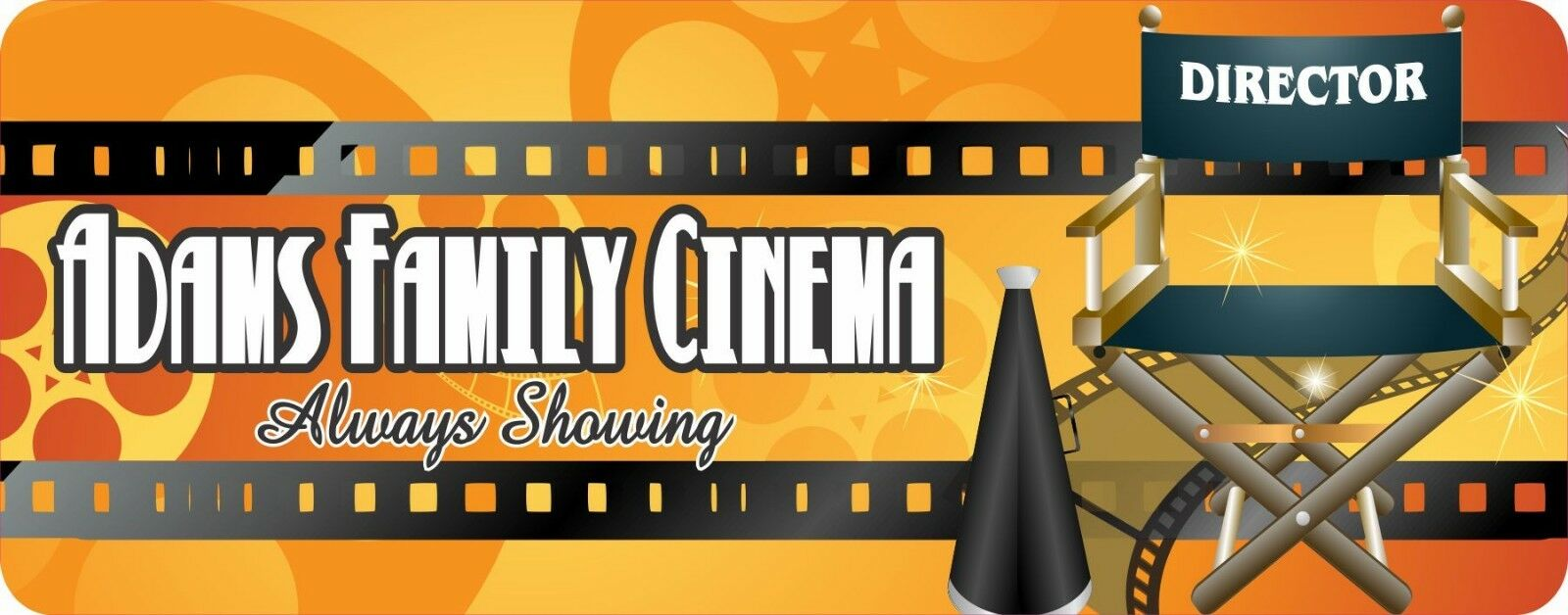 PERSONALIZED HOME MOVIE Theater Sign Movie Director Cinema Wall Art ...