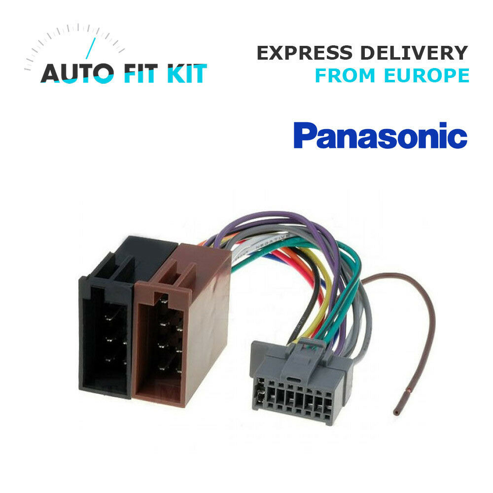 Panasonic Cd Player Wiring Harness 16 Pin Iso Loom Adaptor Wire Radio 1 Of 1only 5 Available