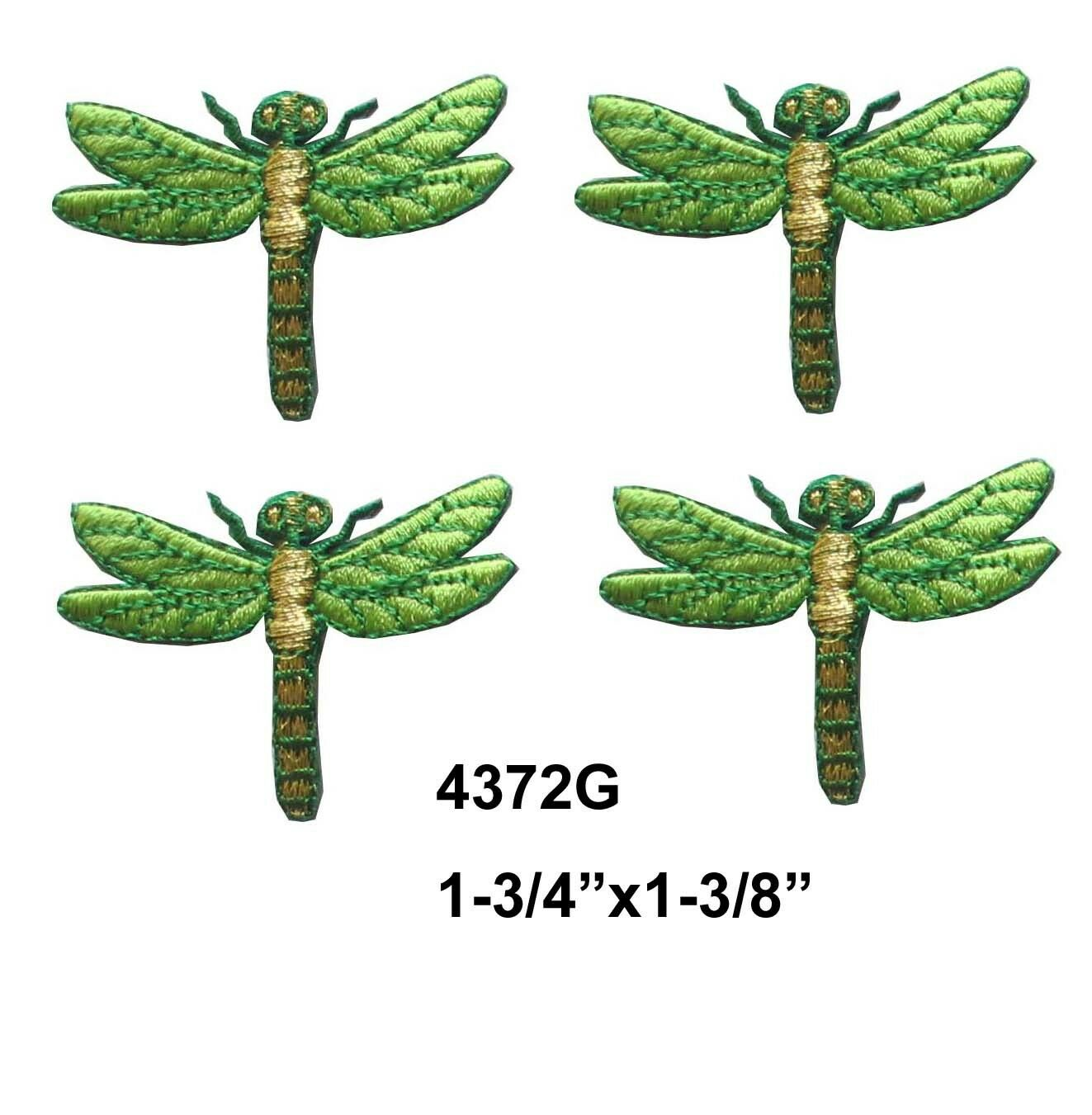4372g Lot 4pcs Green Dragonfly Embroidery Iron On Applique Patch