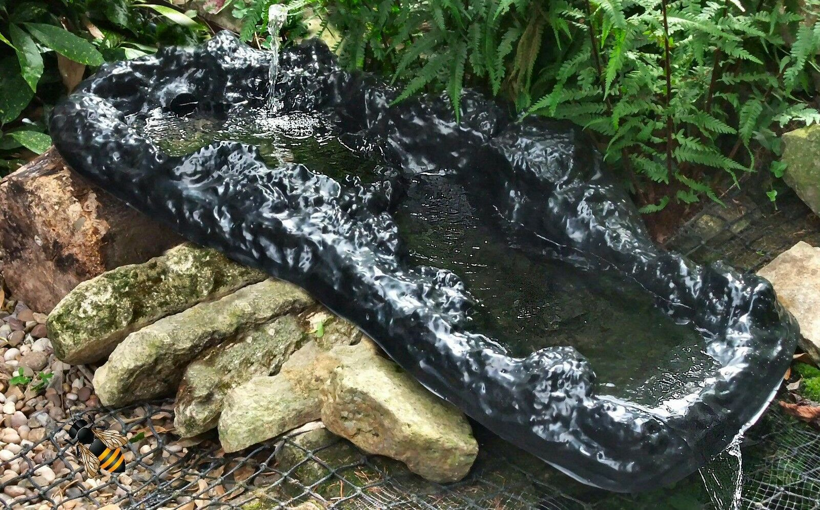 Pond waterfall garden water feature stream rock pool water for Pond water features