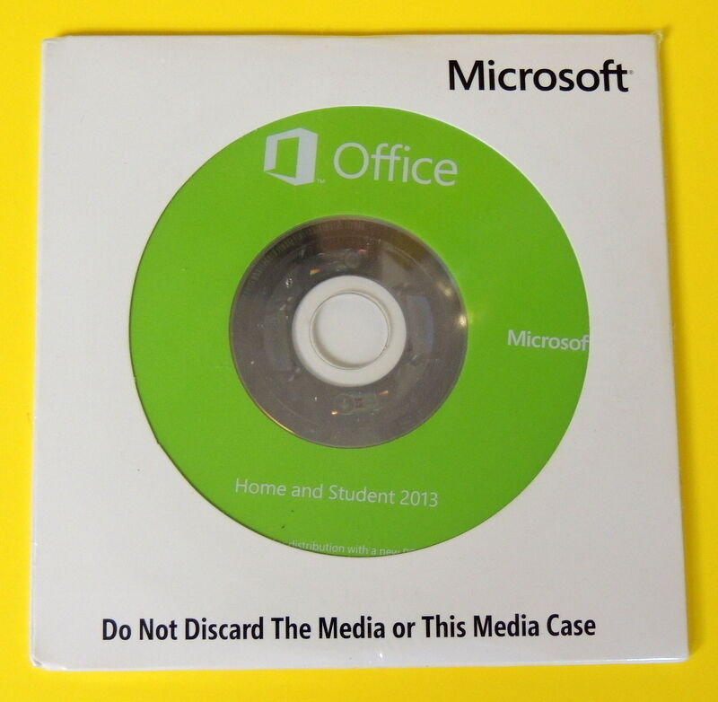 microsoft office home and student 2013 - coa and dvd included