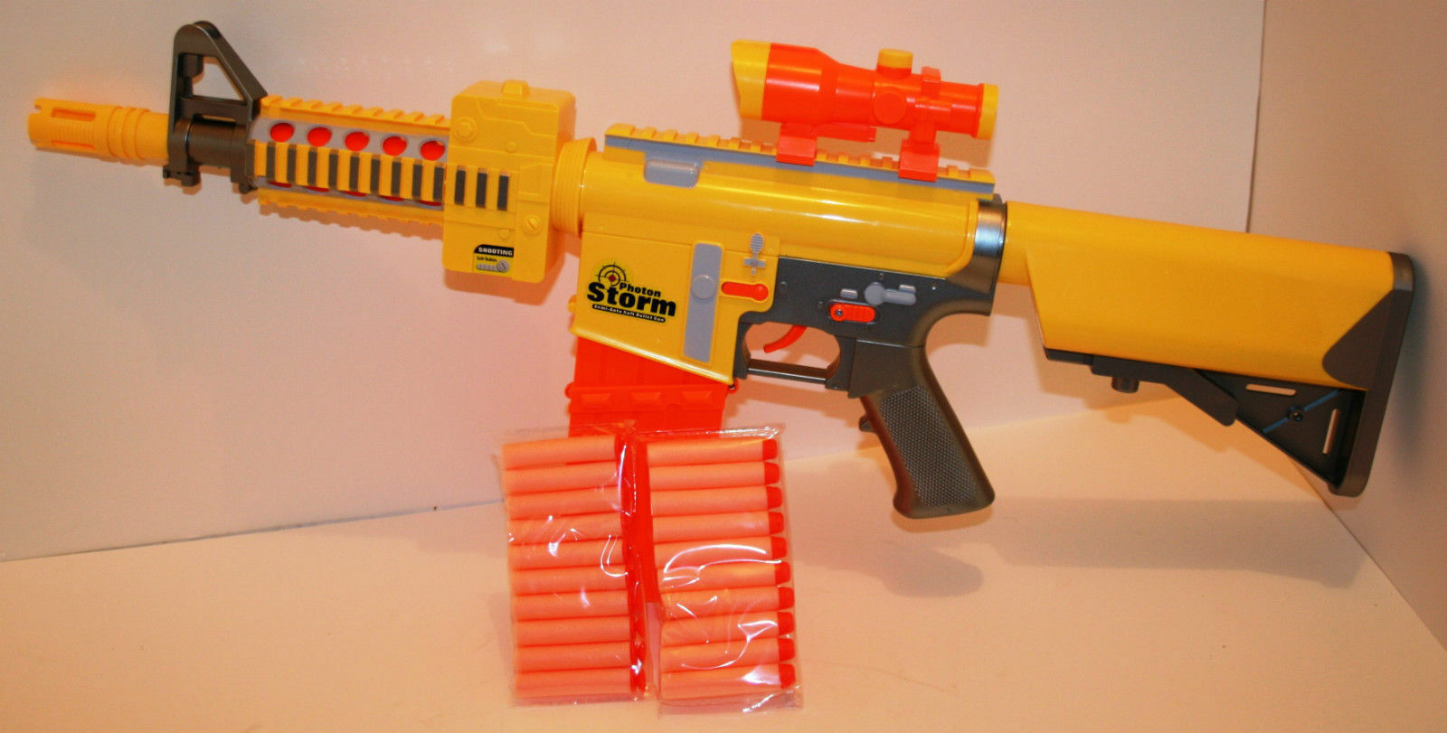 Nerf Style Photon Semi Auto Soft Bullet Electric Gun 6 1 Of 3only 2 Available