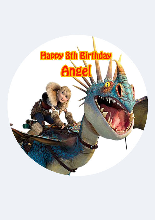 How to train your dragon cake topper party personalised rice paper how to train your dragon cake topper party personalised rice paper 75 img d80 1 of 3free shipping ccuart Gallery