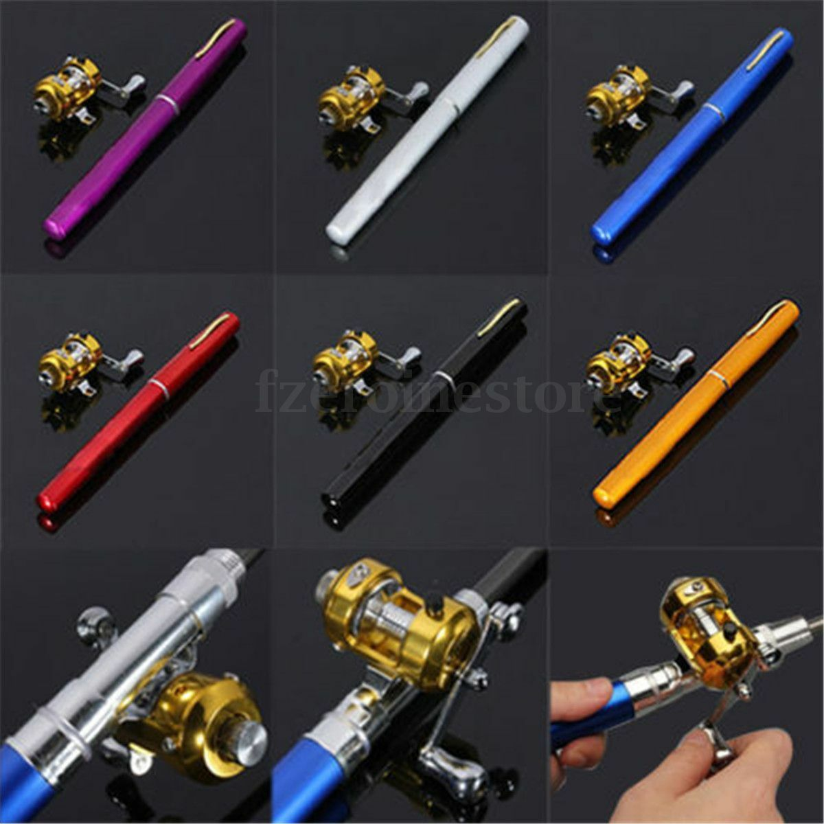Mini telescopic portable pocket aluminum alloy pen fishing for Craigslist fishing rods and reels