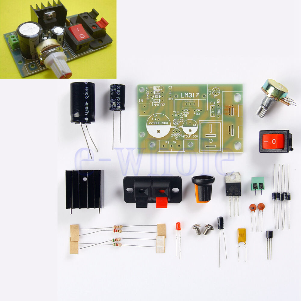 Lm317 Adjustable Regulated Voltage Step Down Power Supply Module Diy Kit K6 1 Of 6free Shipping