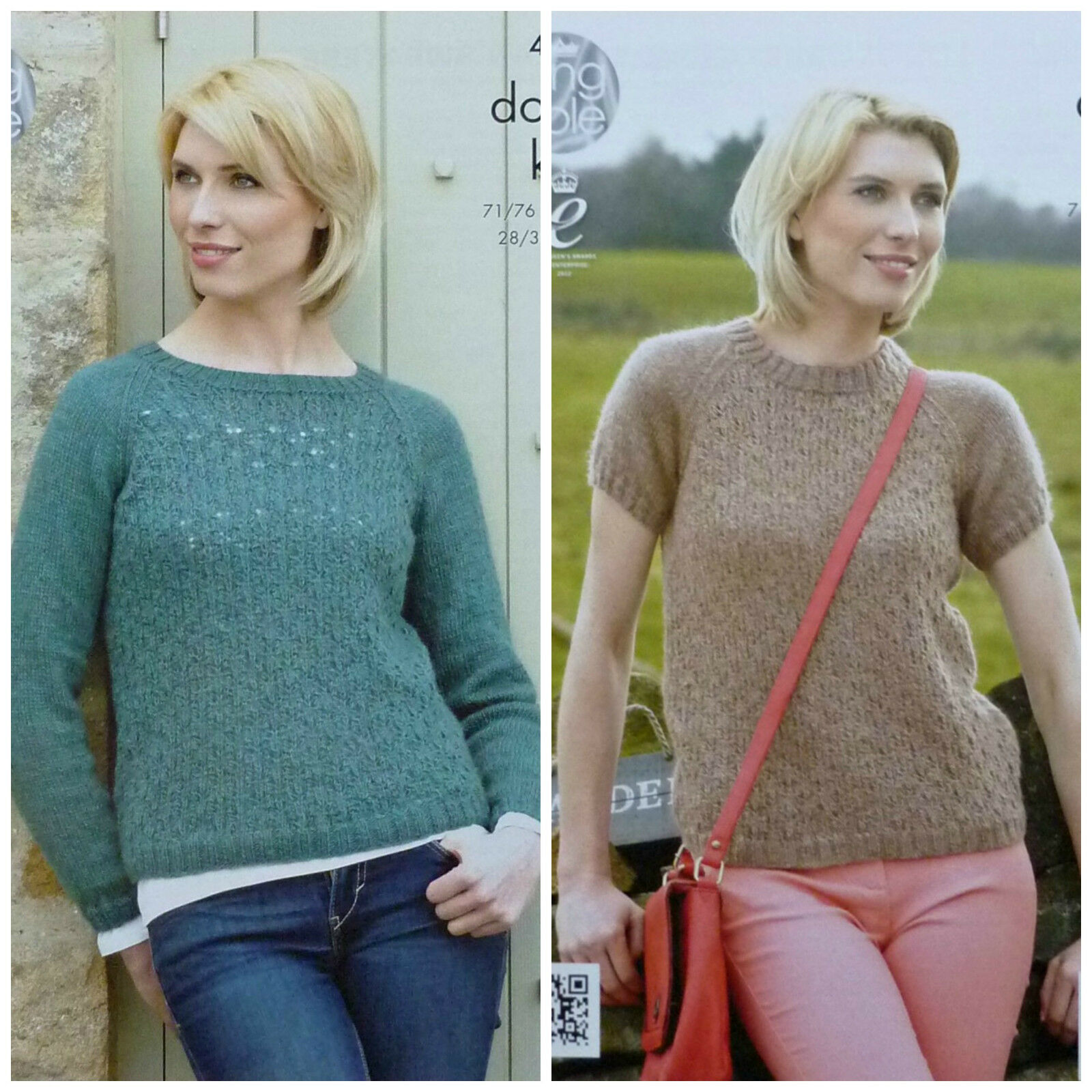 KNITTING PATTERN Ladies Long Sleeve Round Neck Lacy Jumper DK King Cole 4269 ...