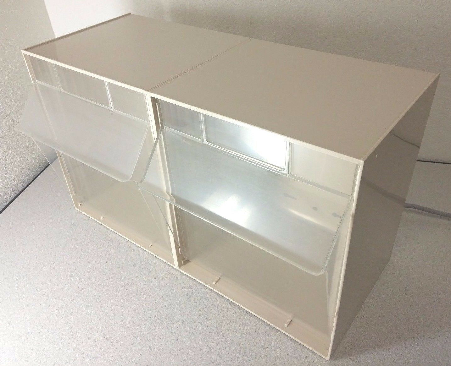 QUANTUM STORAGE SYSTEMS 1215 01 Bin Unit 2 Tip Out Bins Ivory 1 Of 5Only 1  Available QUANTUM STORAGE ...