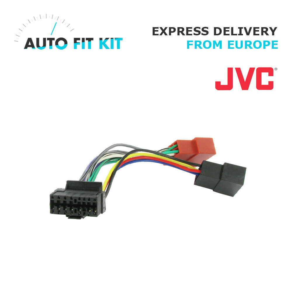 Jvc 16 Pin Iso Wiring Harness Loom Adaptor Wire Radio Connector Lead 1 Of See More