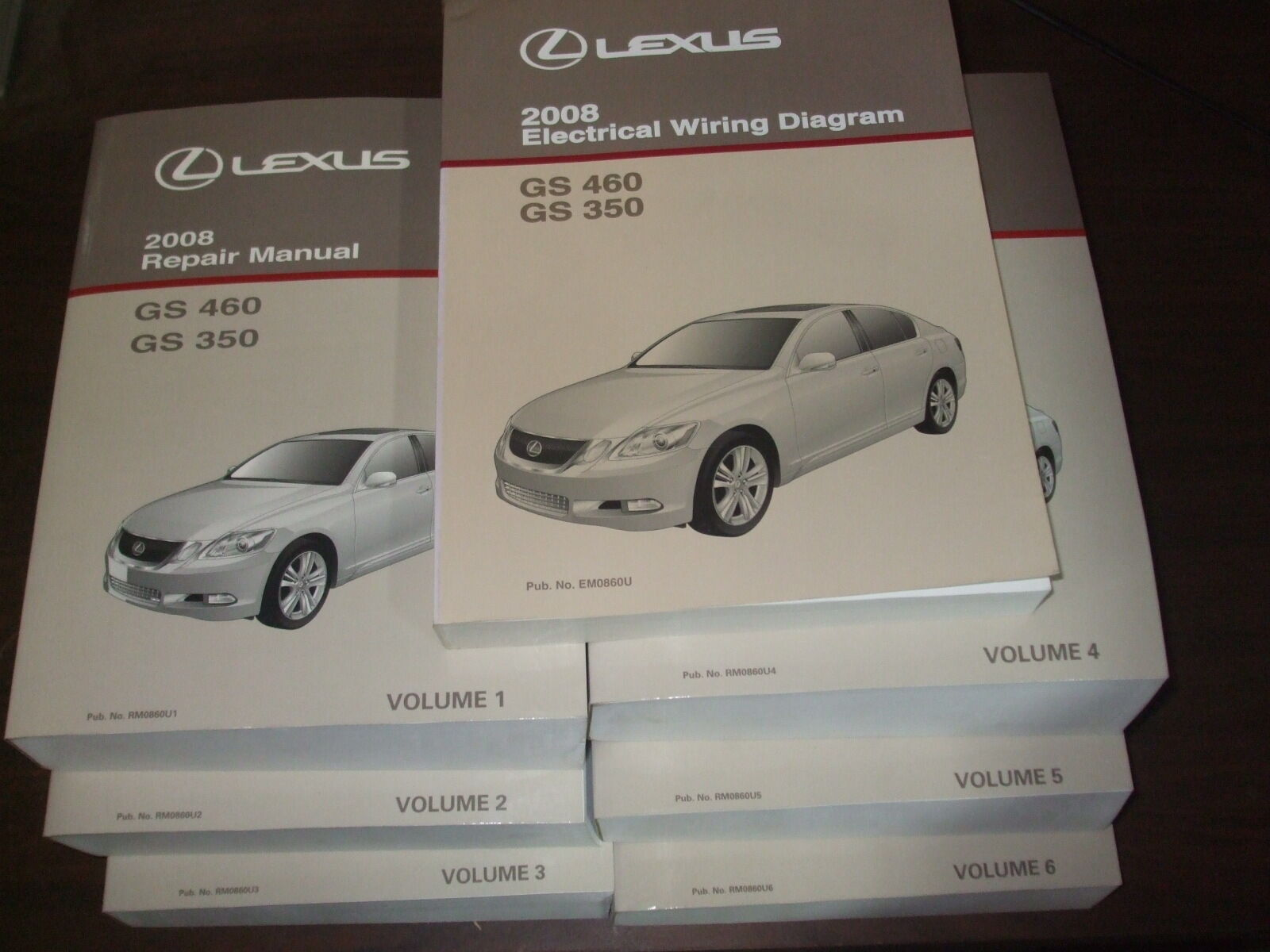 2008 Lexus Gs350 Gs460 Repair Manual 7 Volume Set Gs 350 460 Shop Electrical Wiring Diagram 1 Of 1only Available