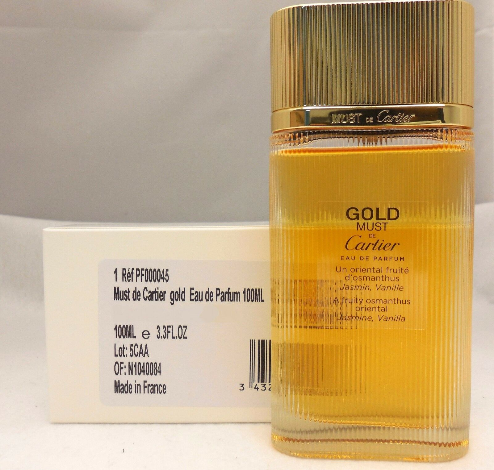 Must De Cartier Gold By Cartier Eau De Parfum Spray 100 Ml33 Floz
