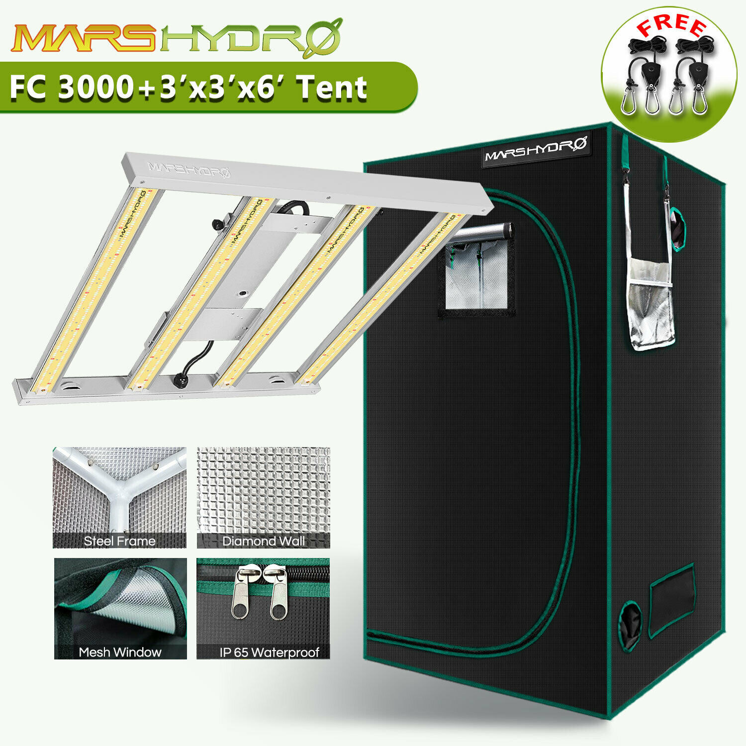 Mars 300w Led Grow Light Hydro Full Spectrum Veg Flower