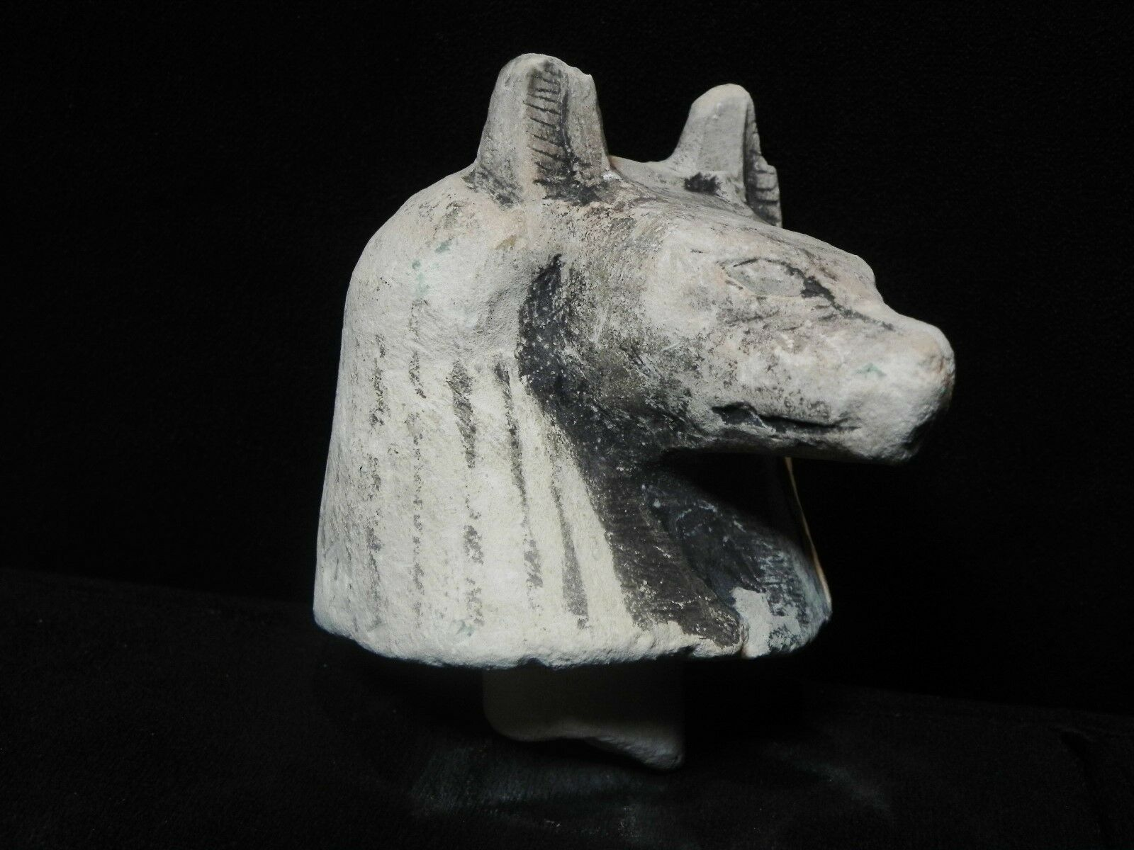 Zurqieh - Ancient Egyptian Stone Canopic Jar Led - Anubis. 600 - 300 B.c