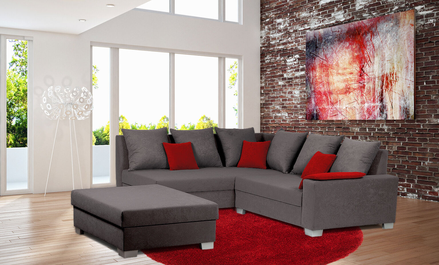 ecksofa eckcouch polsterecke couchgarnitur bettfunktion schlaffunktion sofa eur 389 00. Black Bedroom Furniture Sets. Home Design Ideas