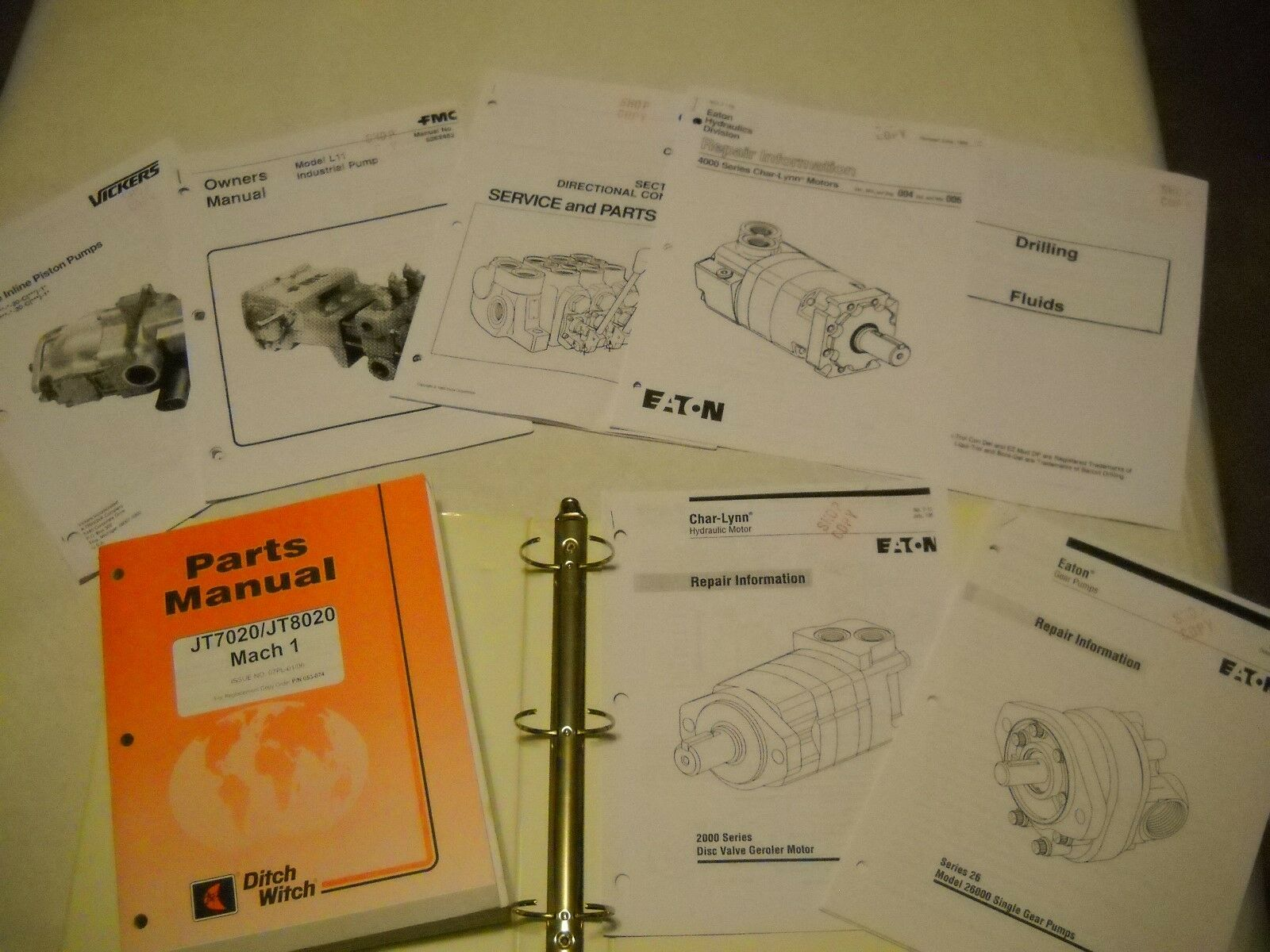 DITCH WITCH JT8020 SERVICE REPAIR PARTS manuals 1 of 7Only 1 available ...