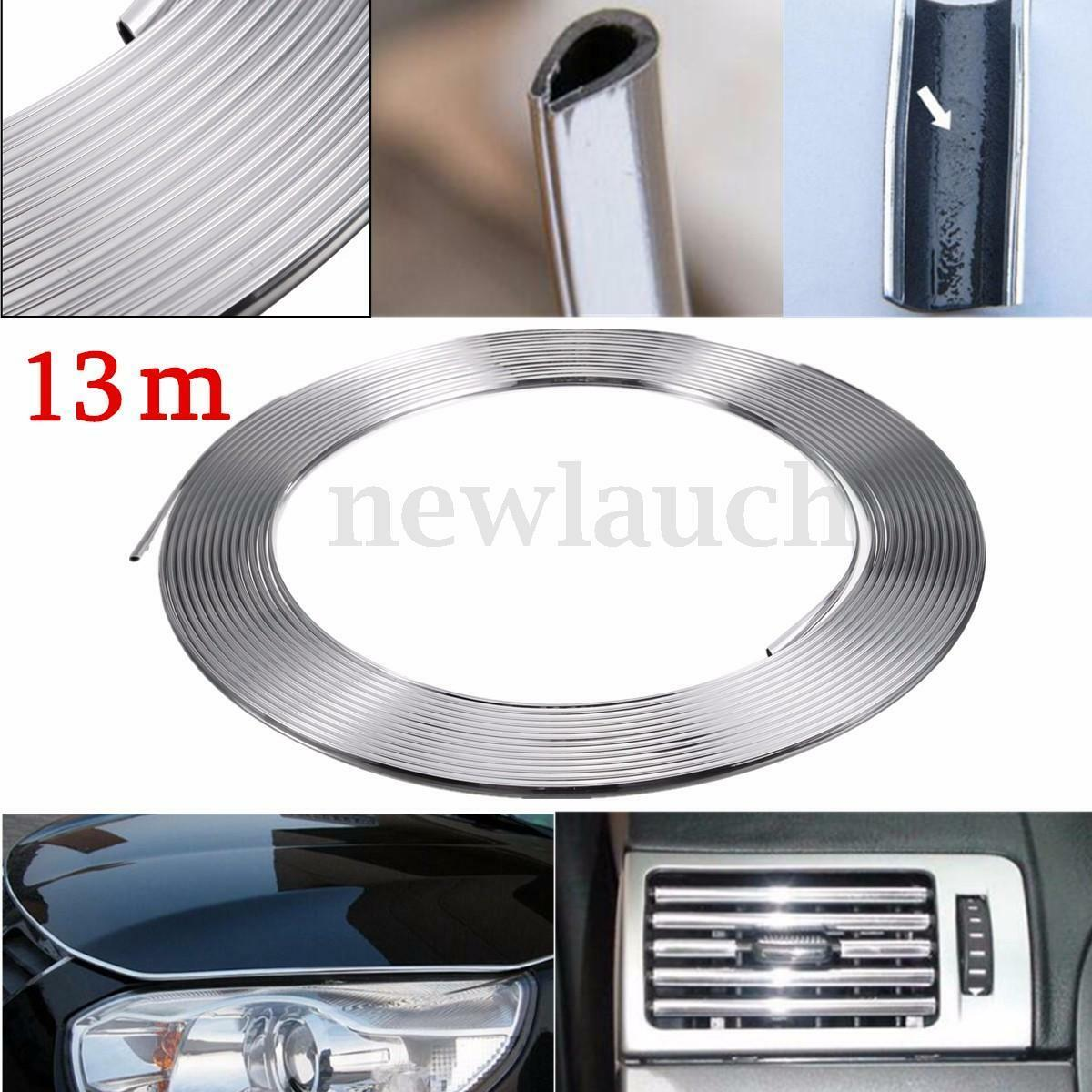 13m bande ruban chrome adh sif auto voiture tuning pr d coration grille air vent eur 8 89. Black Bedroom Furniture Sets. Home Design Ideas