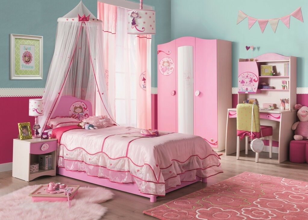 cilek princess kinderzimmer set komplettset schlafzimmer spielzimmer wei rosa eur. Black Bedroom Furniture Sets. Home Design Ideas