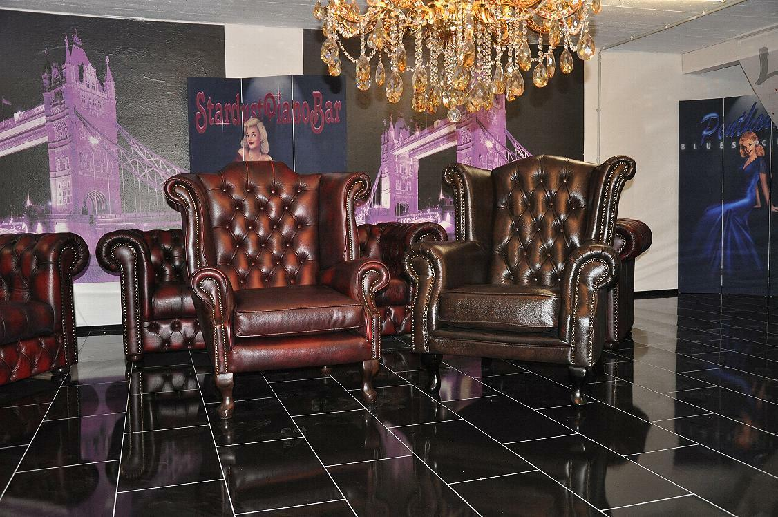 chesterfield ohrensessel king rinder leder a100 chf 1 picclick ch. Black Bedroom Furniture Sets. Home Design Ideas