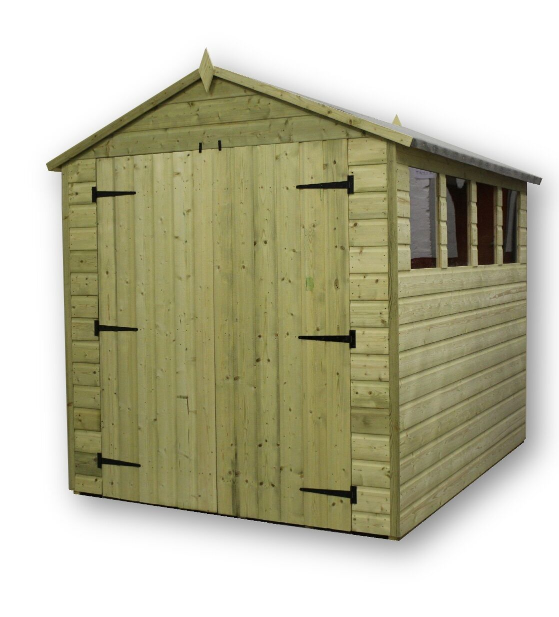 Garden shed 6x12 shiplap apex tanalised pressure treated for Garden shed 9x7