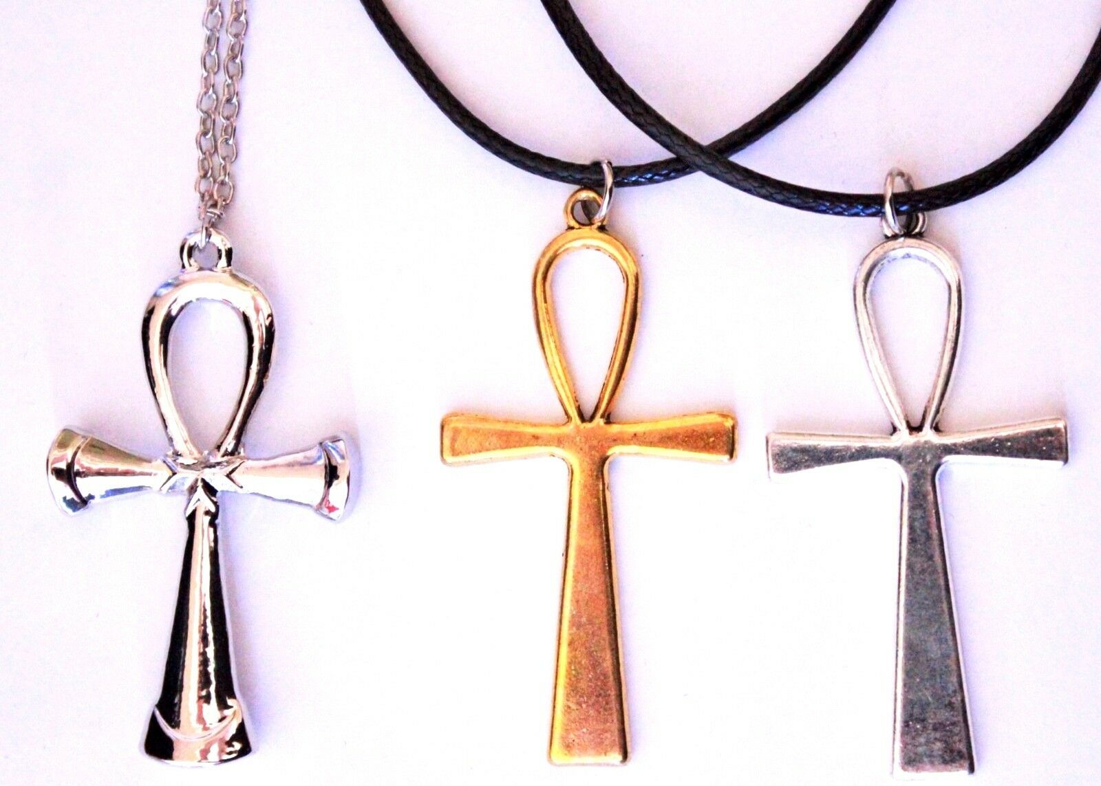 Large Ankh Sign Cross Life Symbol Pendant Gold Silver Ancient
