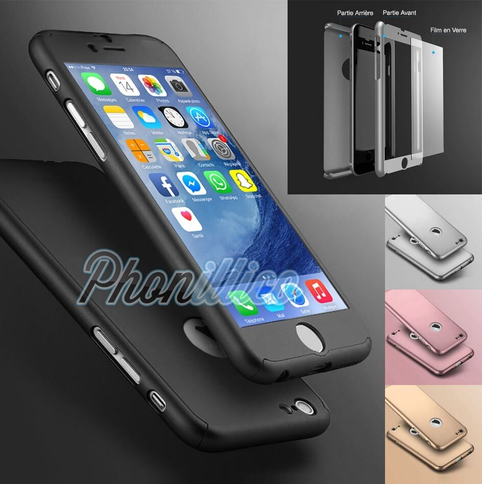 coque housse etui integrale 360 pour iphone 8 7 6s plus se 5s 5 verre trempe eur 1 99. Black Bedroom Furniture Sets. Home Design Ideas