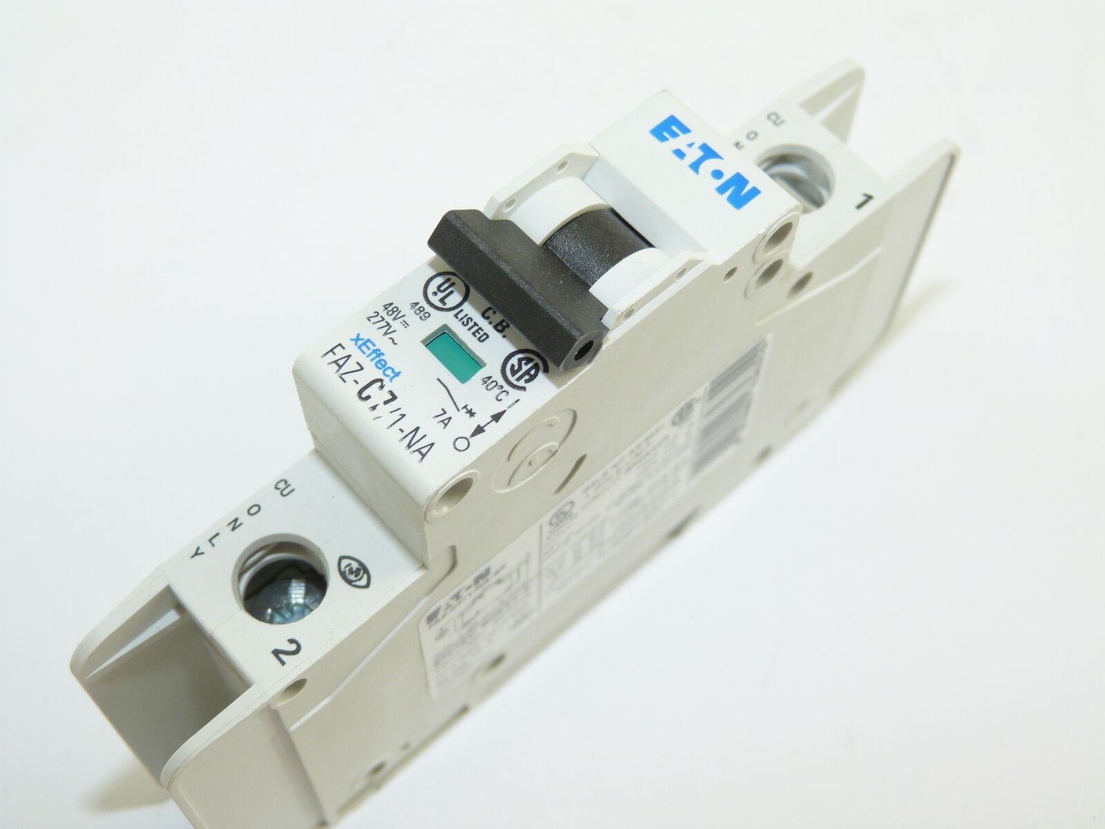 Faz Miniature Circuit Breakers Eaton Cutler Hammer C7 1 Na Sp 1p 7a 277v Breaker New Of 1only Available