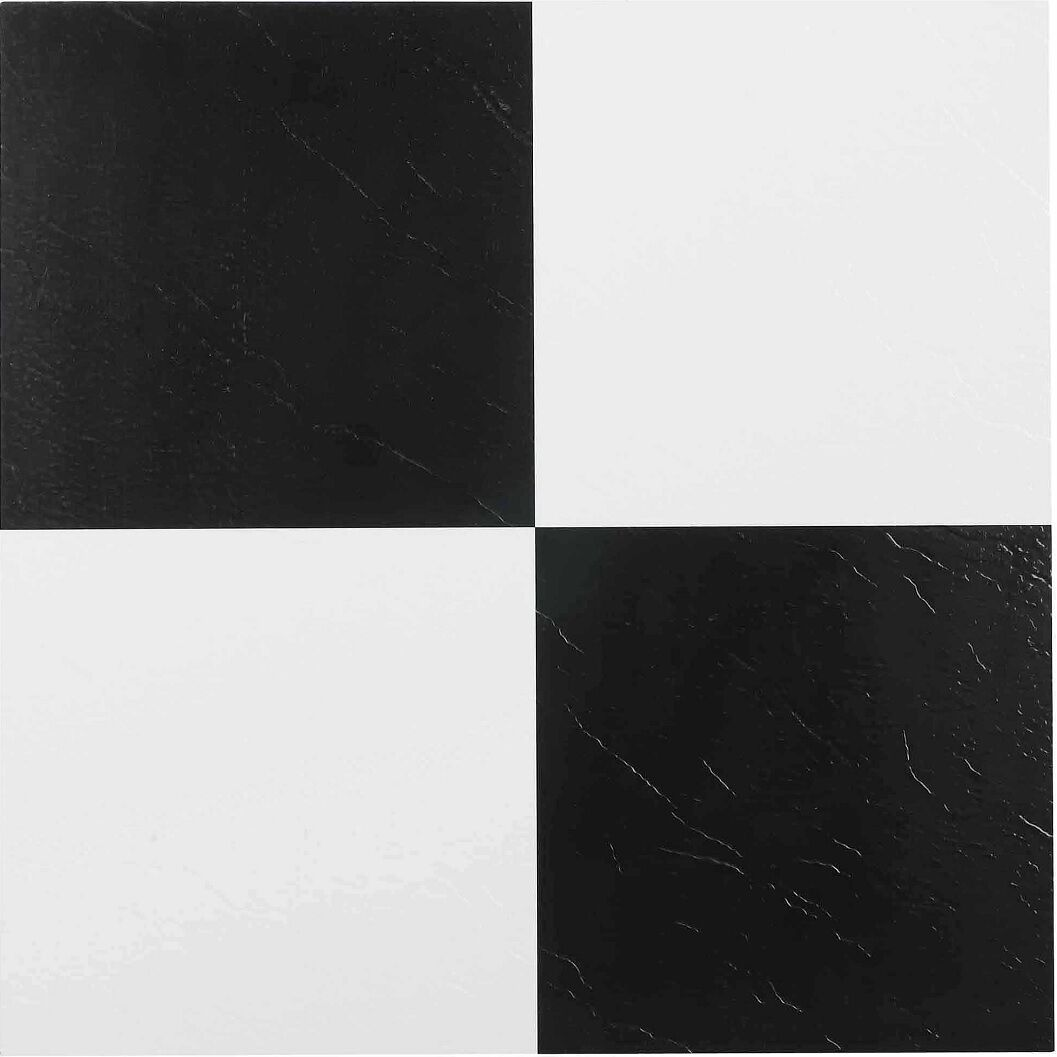 Vinyl Floor Tile Self Adhesive Peel And Stick Black And White