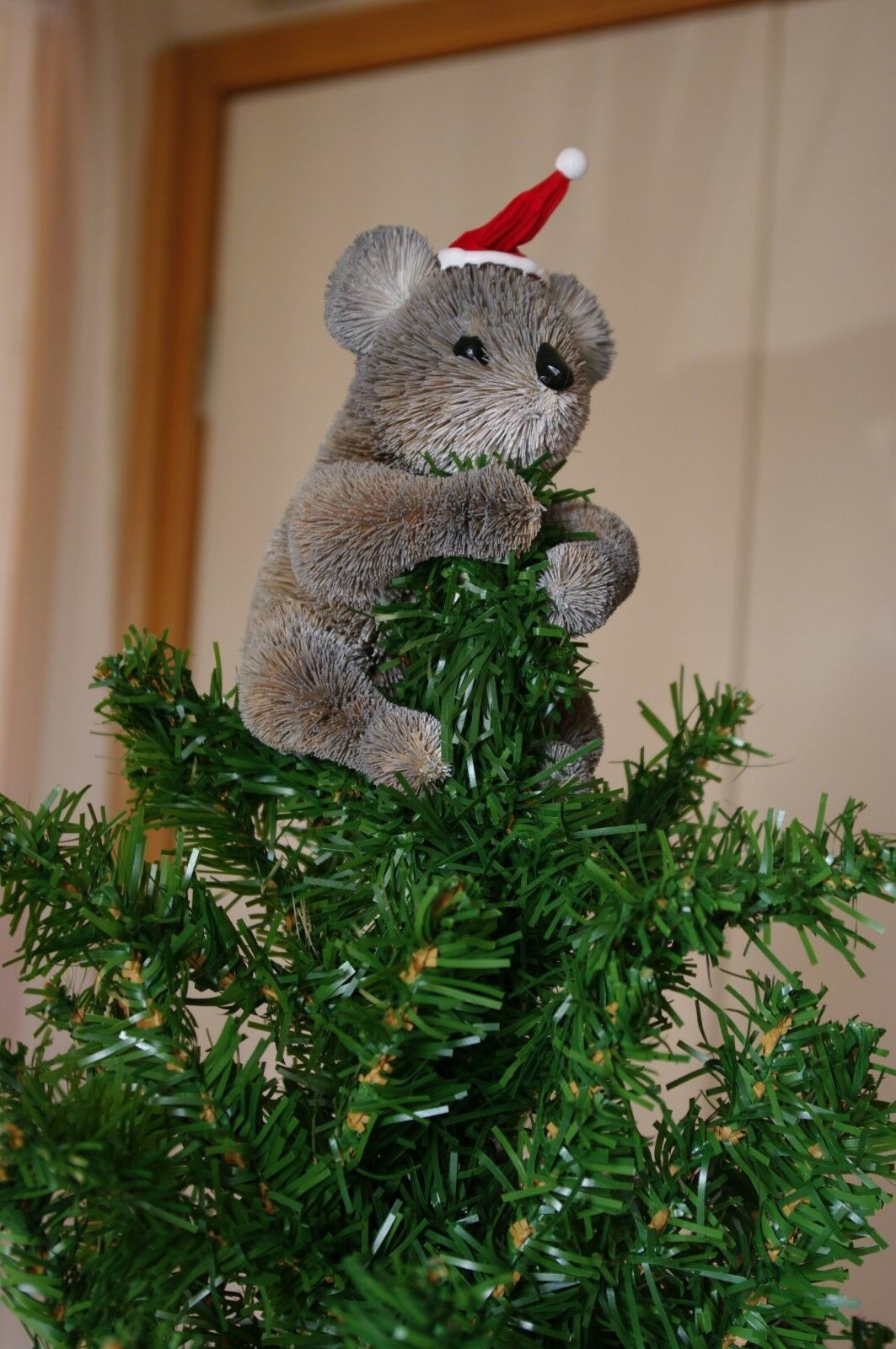 Koala christmas tree topper brush christmas xmas for Australian christmas decoration ideas