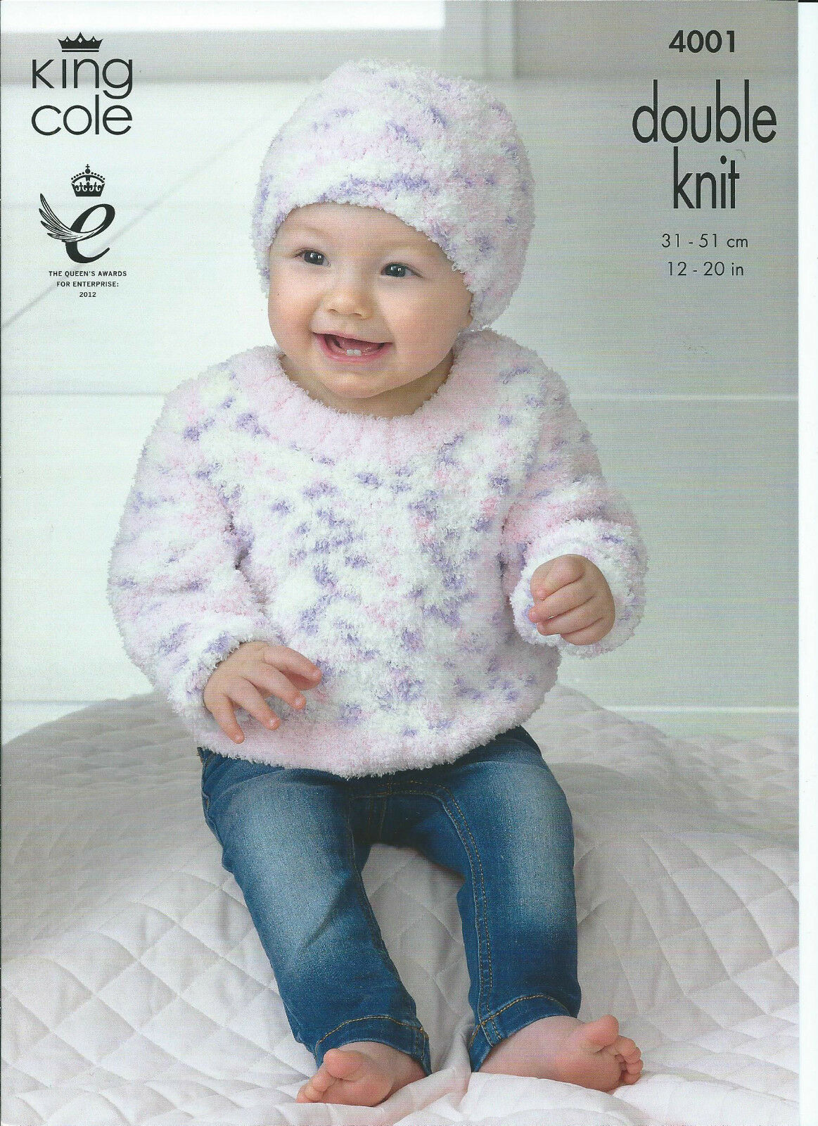 Baby Sweater, Slipover & Hat In King Cole Cuddles DK Yarn, Knitting Patte...
