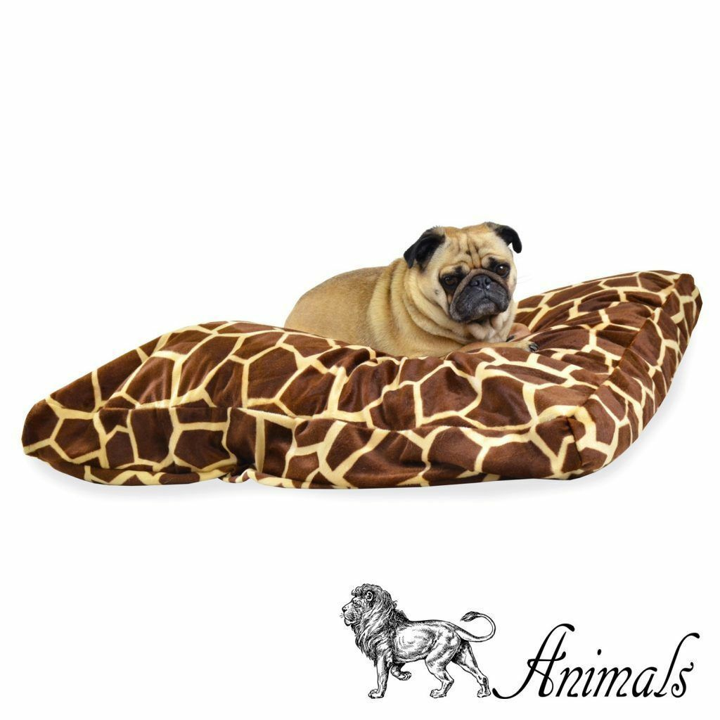 ANIMALS HERBIVORE – PET CUSHION. Dog Beds Cat Bed Fury Print Washable Pillow HQ