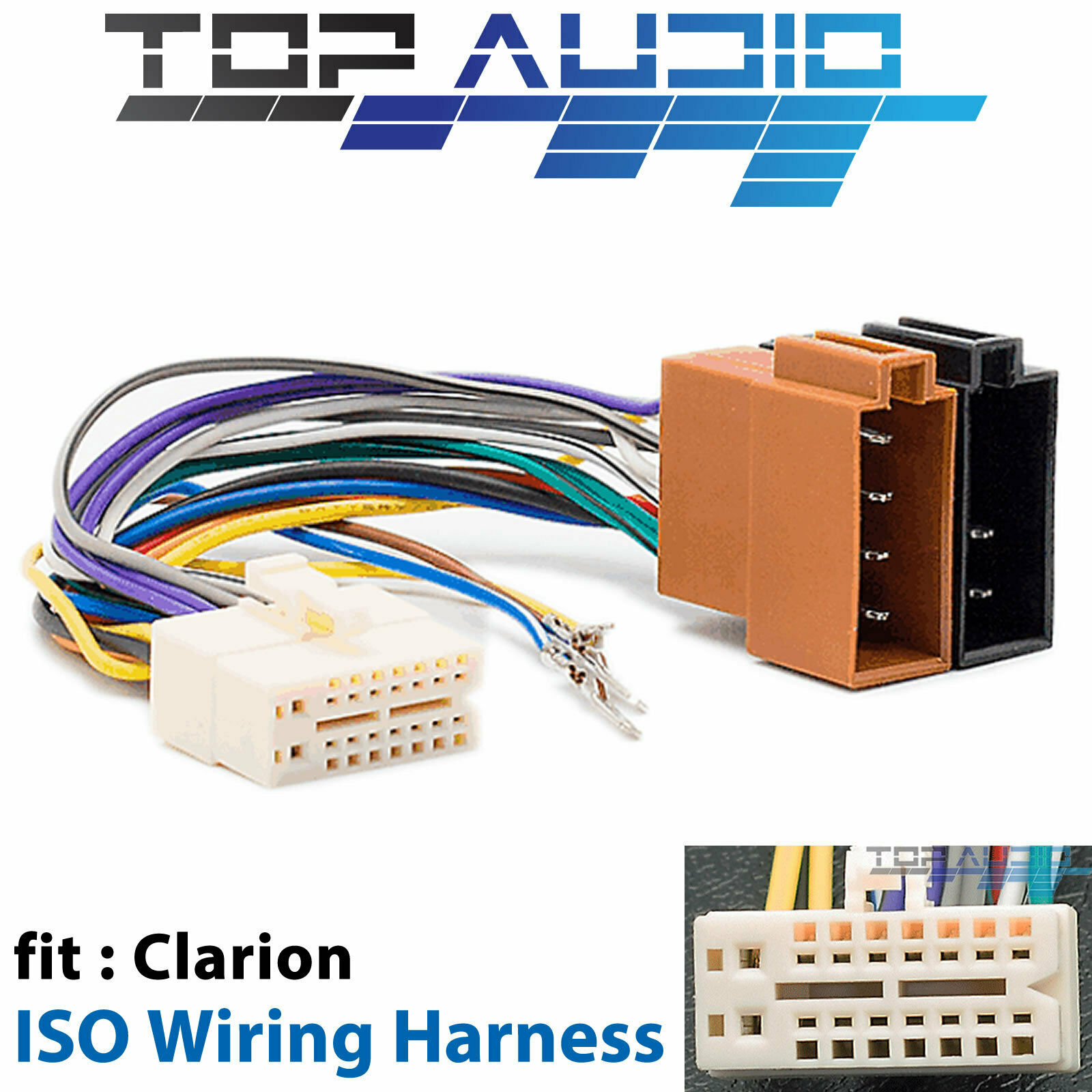 Clarion CZ305AU ISO Wiring Harness cable connector adaptor lead loom wire  plug 1 of 3Only 5 available See More