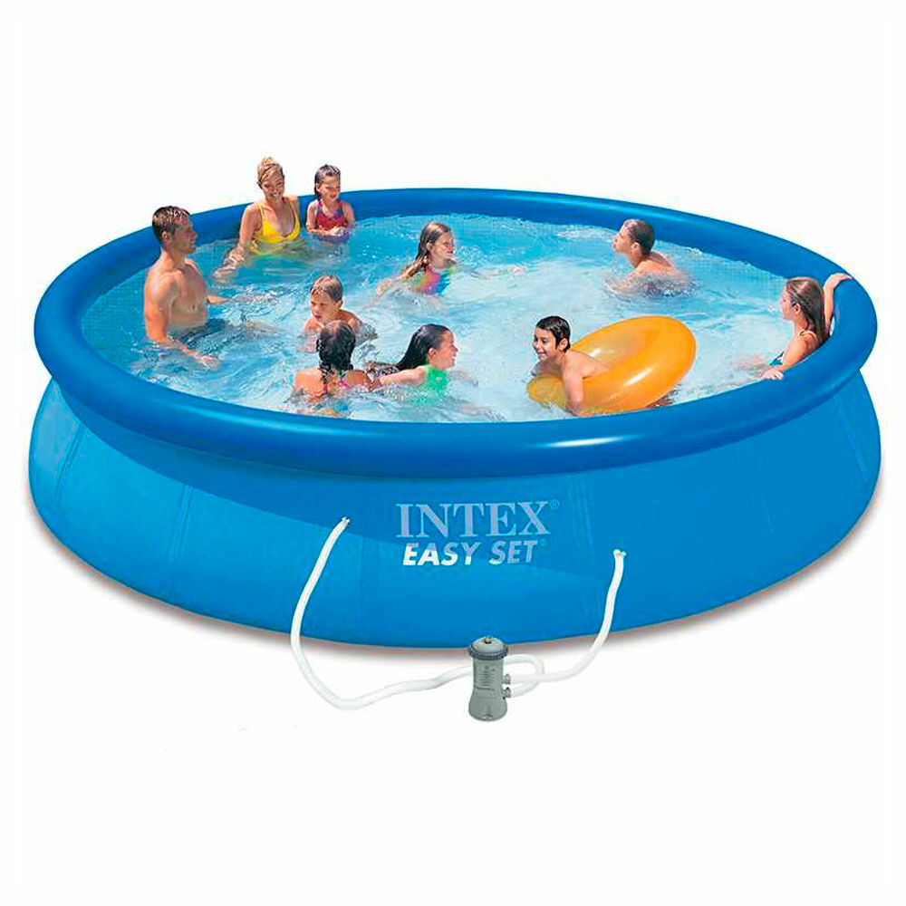 Piscina fuori terra rotonda intex 28158 easy cm 457 x 84 for Piscina intex rotonda