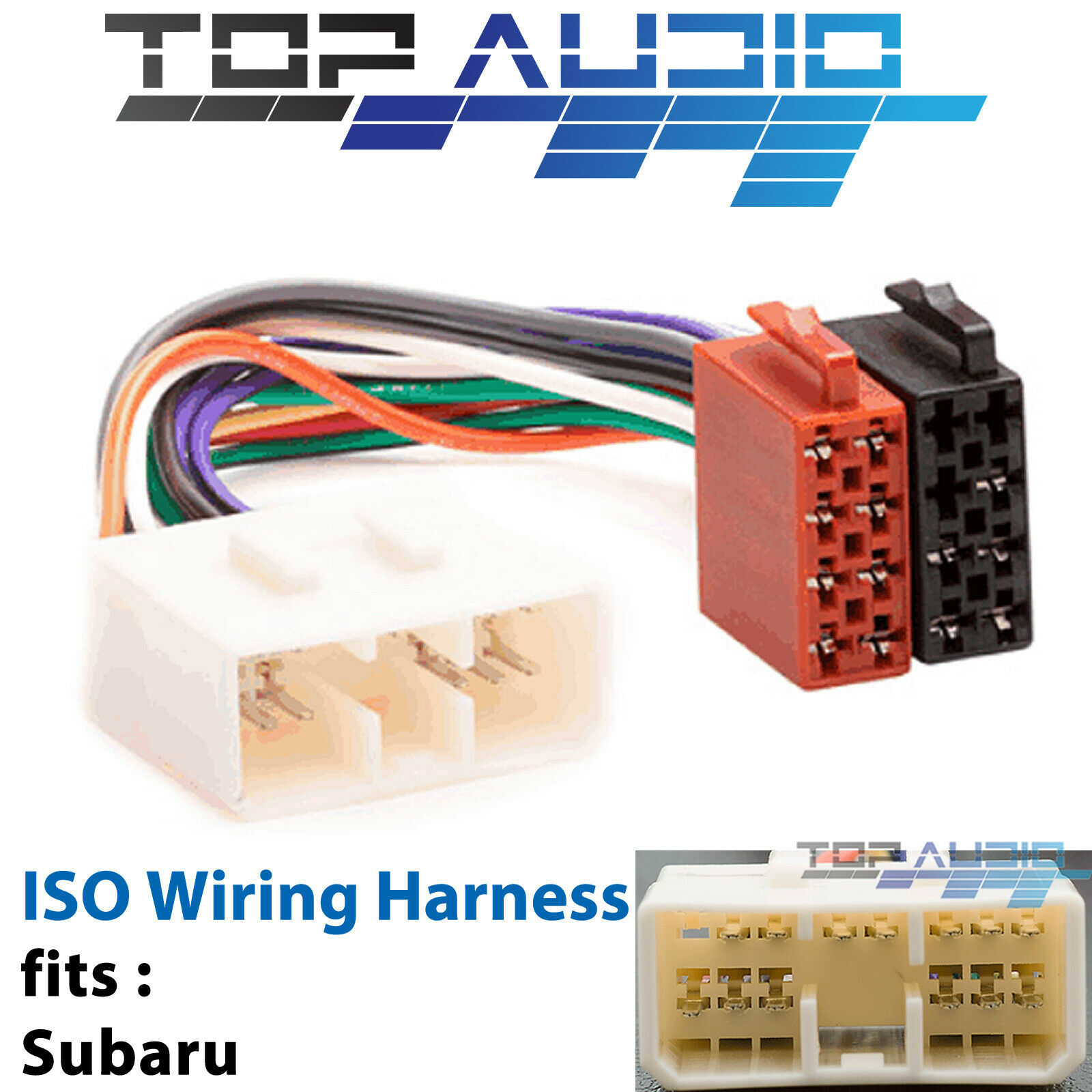 fit SUBARU ISO wiring harness adaptor cable connector lead loom plug wire 1  of 6Only 4 available ...