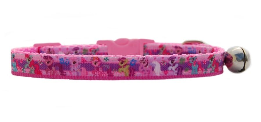 "Pink  "" My Little Pony""   safety kitten cat collar 3 sizes"