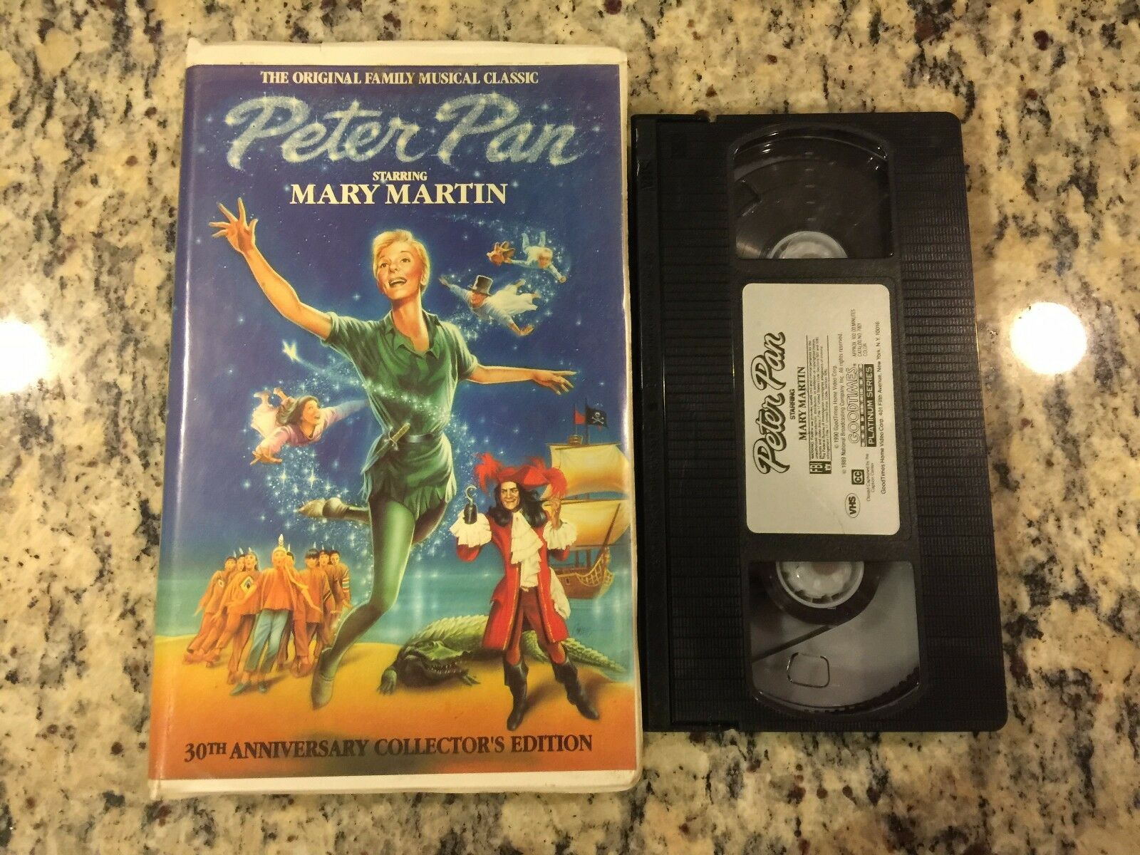 Peter Pan Live Stage Play Version Rare Vhs Htf On Dvd 1960 Mary Martin 1 Of 3Only Available See More