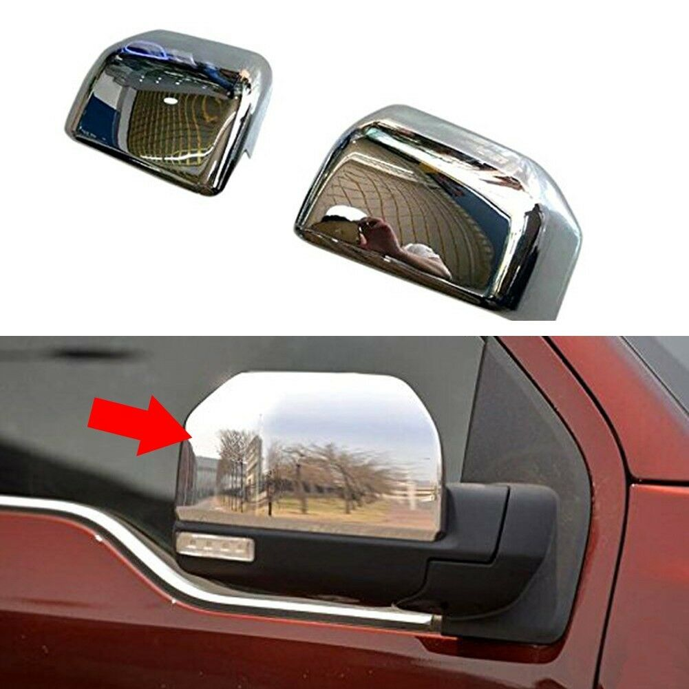 Abs Chrome Rear View Mirror Cap Cover Trim For Ford F  Of Only  Available