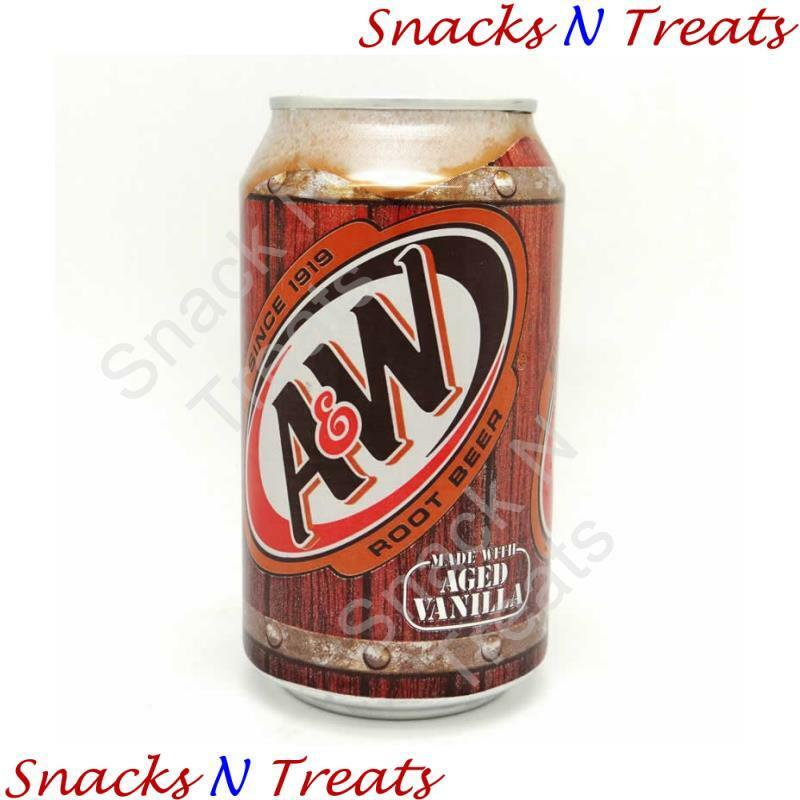A&W Root Beer Drink USA 24 X 355ml Cans - Bulk Party Pack